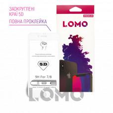 5D захисне скло LOMO для iPhone 7/8 біле