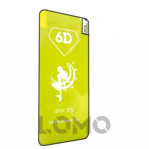 Захисна 6D плівка LOMO для дисплею iPhone 6/s чорна