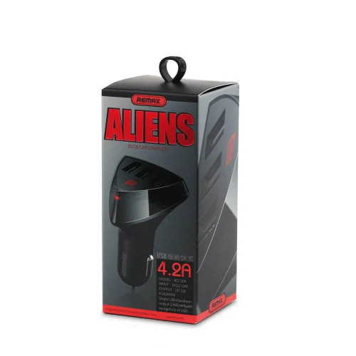 Адаптер для зарядки в авто АЗП REMAX ALiens 4.2A