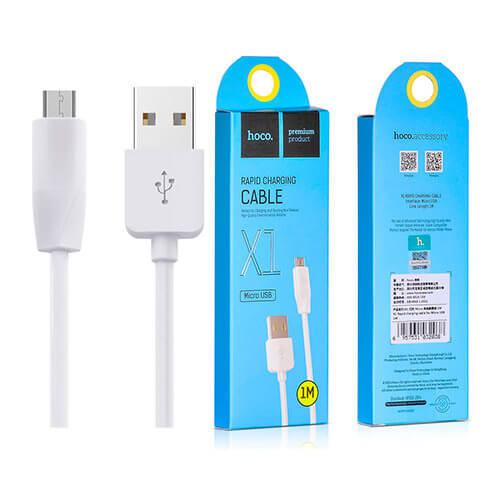 Кабель HOCO X1 White MicroUSB to USB 1m