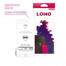 5D захисне скло LOMO для iPhone 6/6s біле