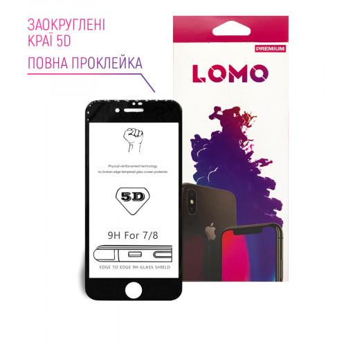 5D захисне скло LOMO для iPhone 7/8 чорне